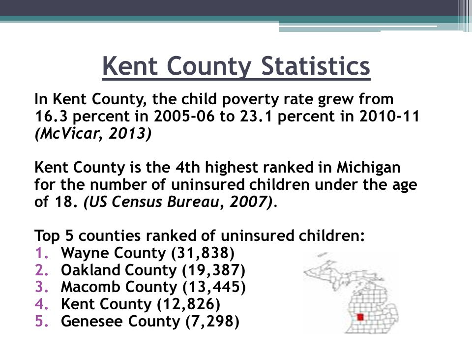 Barriers for Kent County Rural areas in Michigan such as Kent County, have been hit the hardest with the worsening economy.