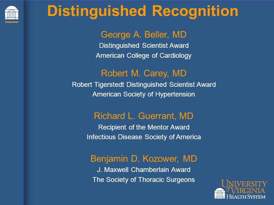 Distinguished Recognition George A.
