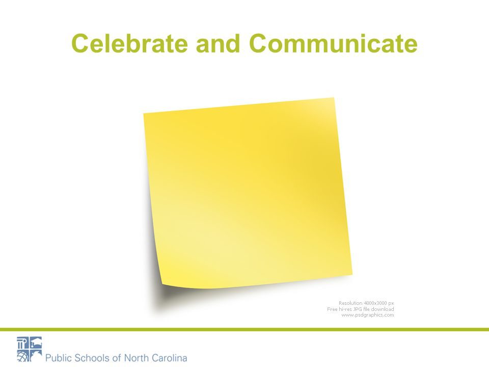 Celebrate and Communicate