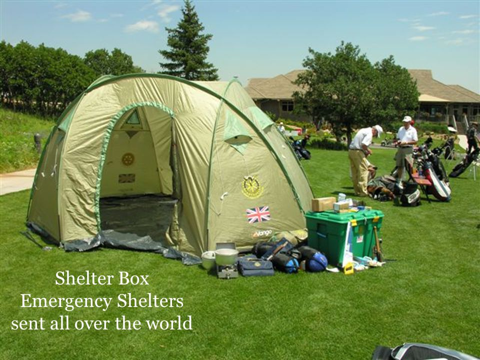 Shelter Box Emergency Shelters sent all over the world