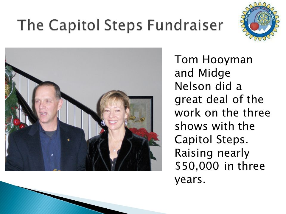 Tom Hooyman and Midge Nelson did a great deal of the work on the three shows with the Capitol Steps.