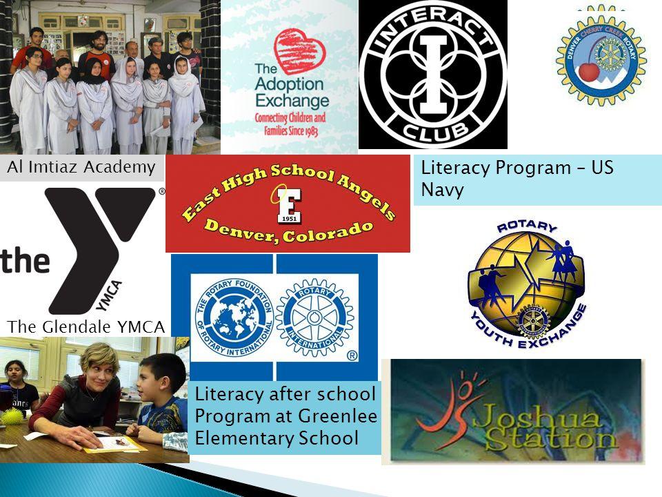 Al Imtiaz Academy The Glendale YMCA Literacy Program – US Navy Literacy after school Program at Greenlee Elementary School