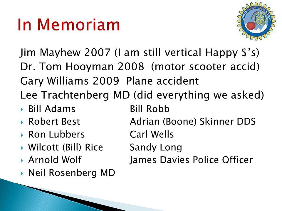 Jim Mayhew 2007 (I am still vertical Happy $'s) Dr.
