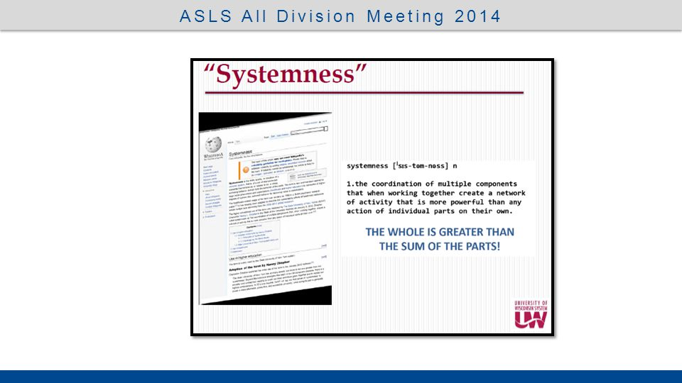 UW System President, Ray Cross  Service  Transparency  Value Added New Era ASLS All Division Meeting 2014