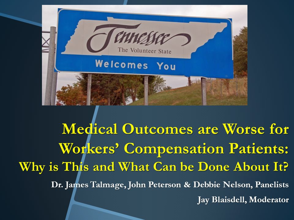 Medical Outcomes are Worse for Workers' Compensation Patients: Why is This and What Can be Done About It.