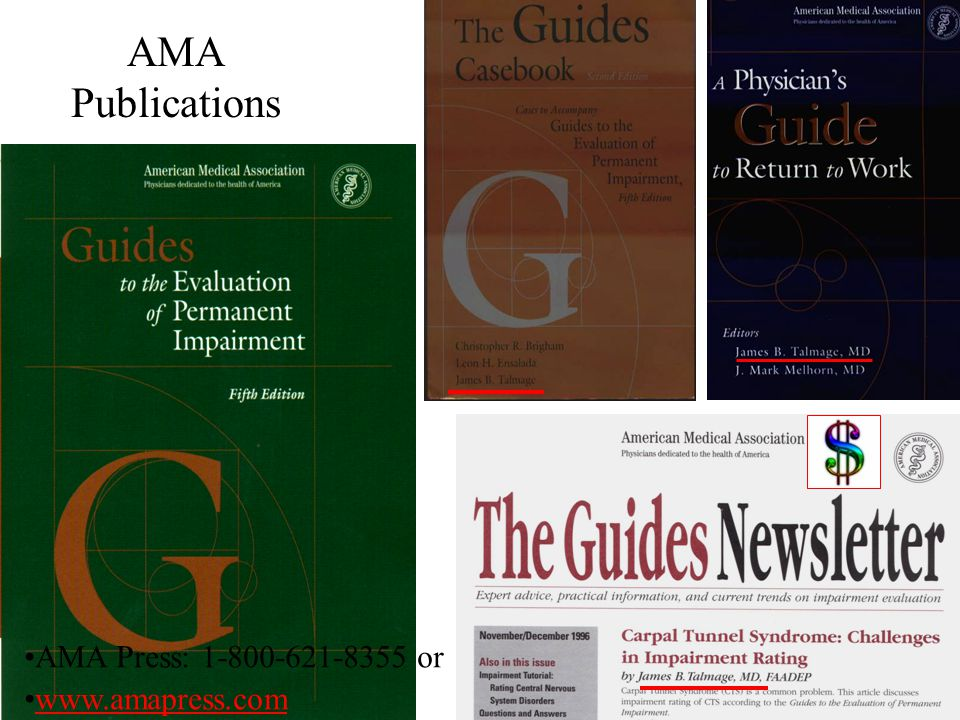 7 7 AMA Publications AMA Press: 1-800-621-8355 or www.amapress.com