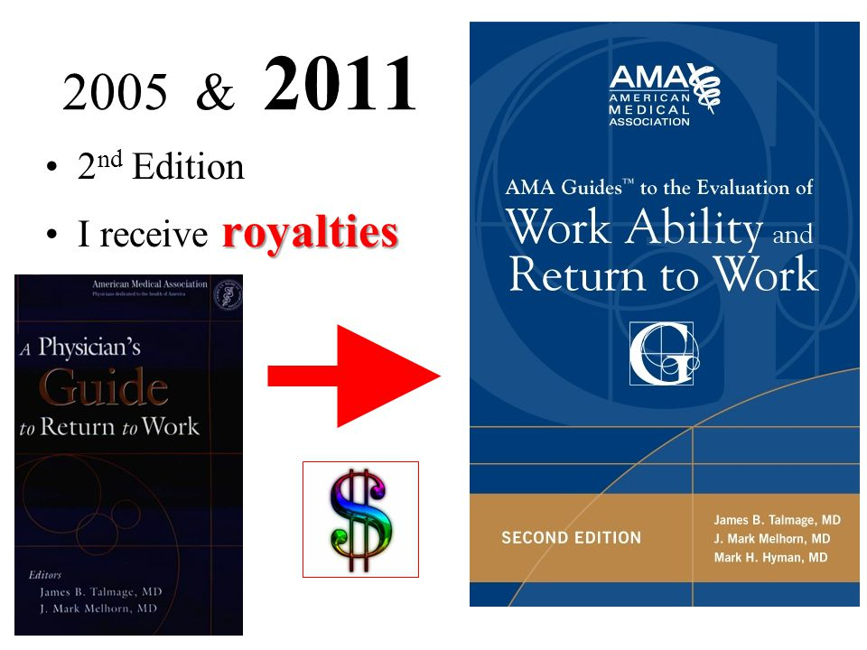 2005 & 2011 2 nd Edition royaltiesI receive royalties
