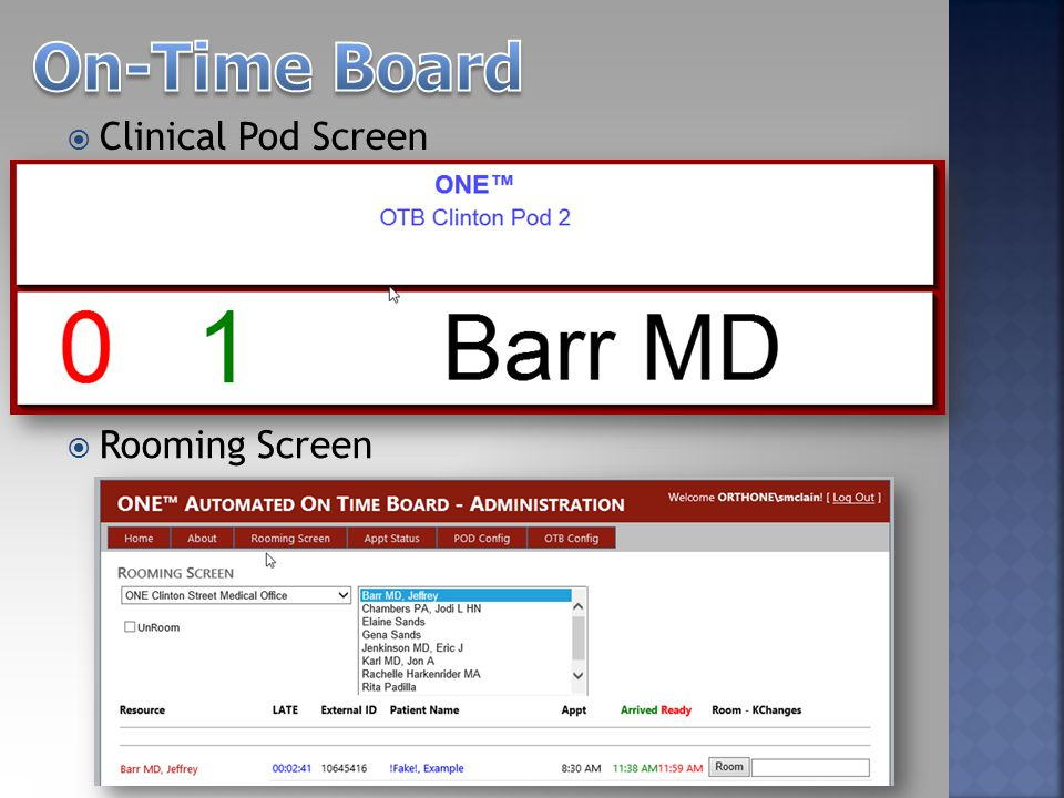  Clinical Pod Screen  Rooming Screen