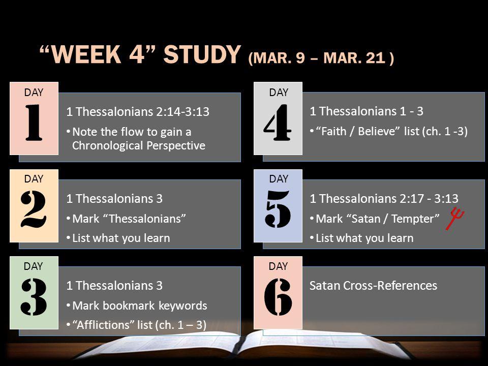 WEEK 4 STUDY (MAR.9 – MAR.