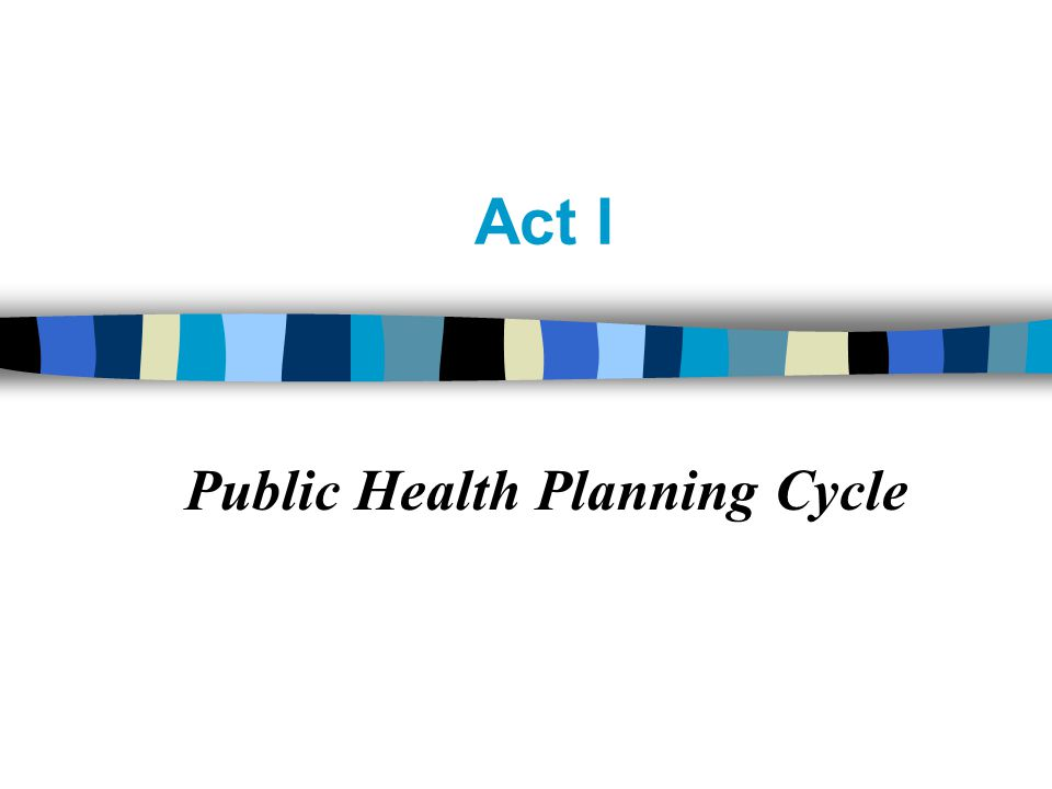 Act I Public Health Planning Cycle