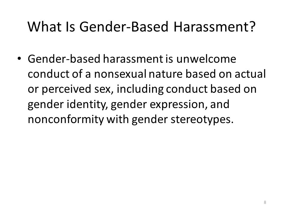 What Is Gender-Based Harassment.