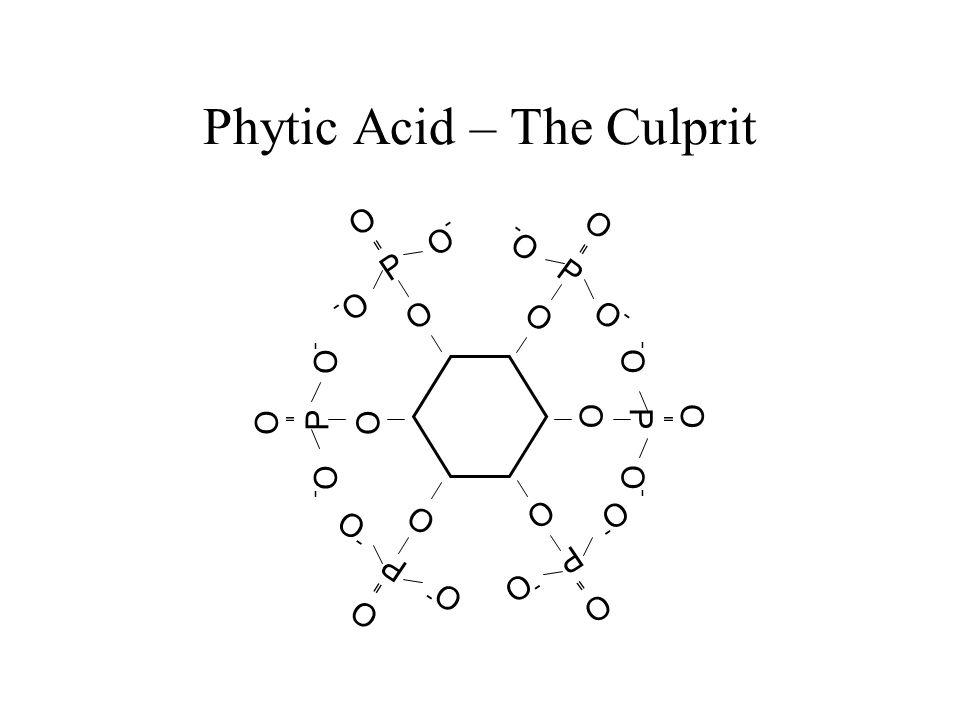 Phytate Phosphorus P O-O- -O-O O O P O-O- -O-O O O P O-O- -O-O O O P O-O- -O-O OO P O-O- -O-O O O P O-O- -O-O O O Zn ++ Ca ++ Cu ++ Zn ++ Mg ++ Fe ++