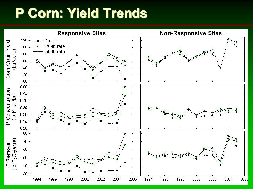 P Corn: Yield Trends
