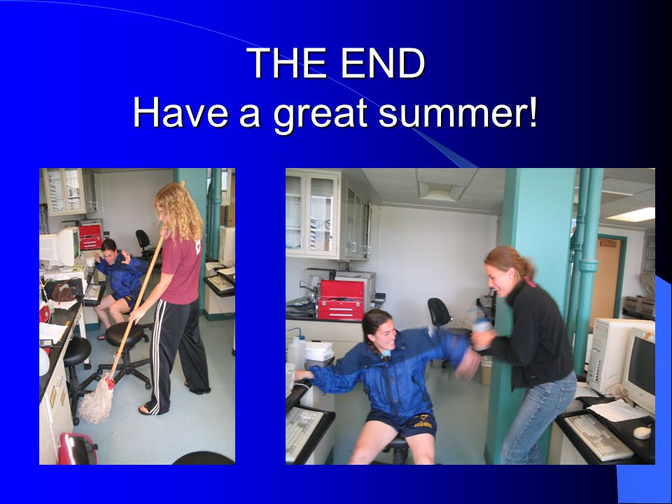 THE END Have a great summer!
