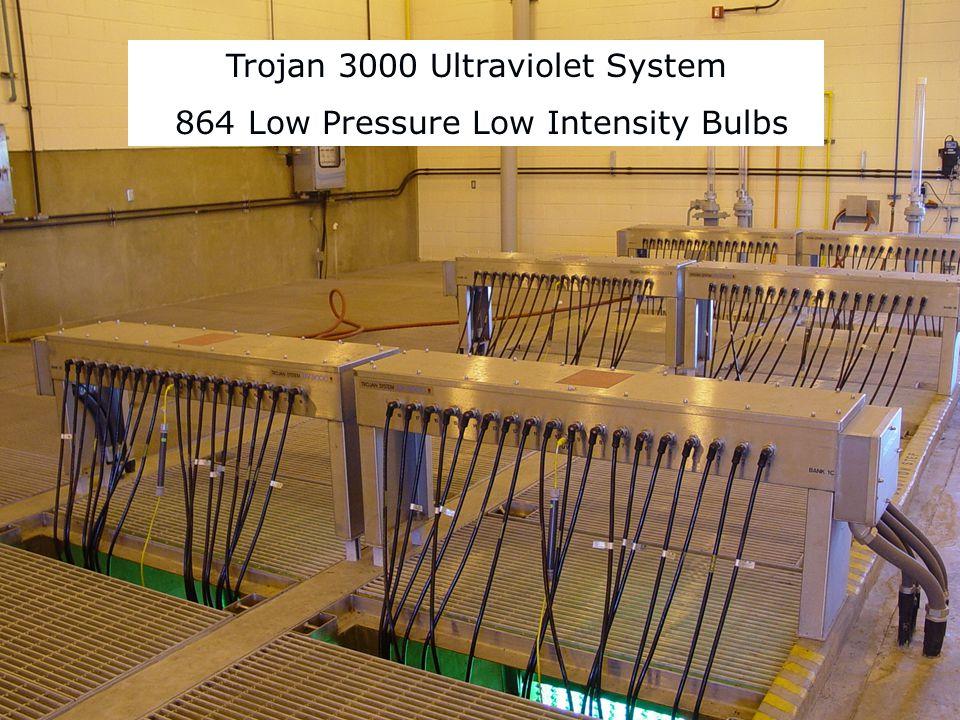 Trojan 3000 Ultraviolet System 864 Low Pressure Low Intensity Bulbs