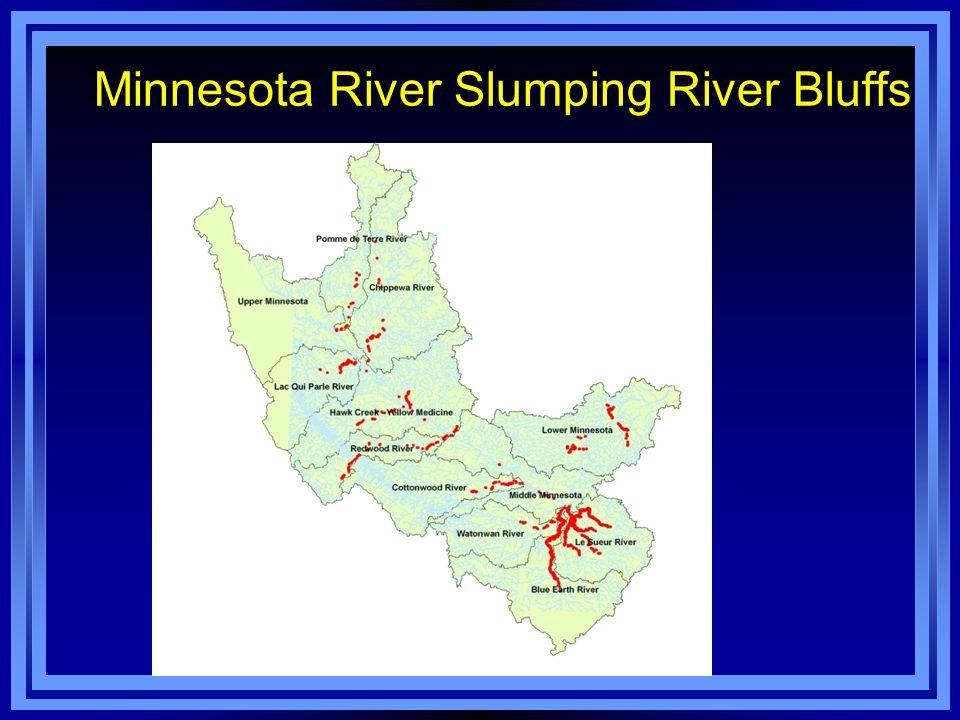 Minnesota River Slumping River Bluffs