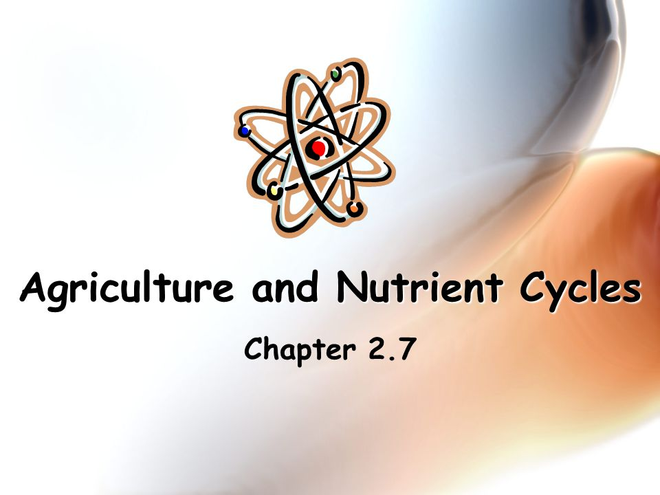 Agriculture and Nutrient Cycles Chapter 2.7