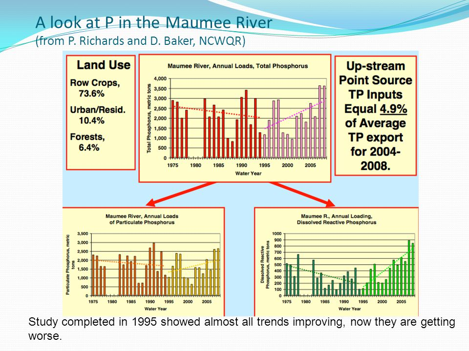 A look at P in the Maumee River (from P. Richards and D.
