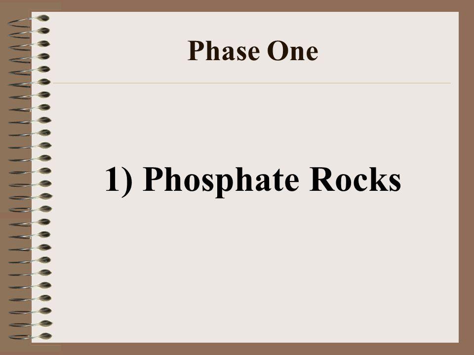Phase One 1) Phosphate Rocks