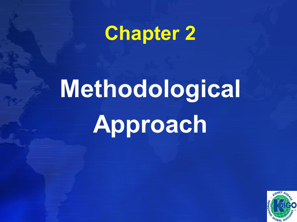 Chapter 2 Methodological Approach