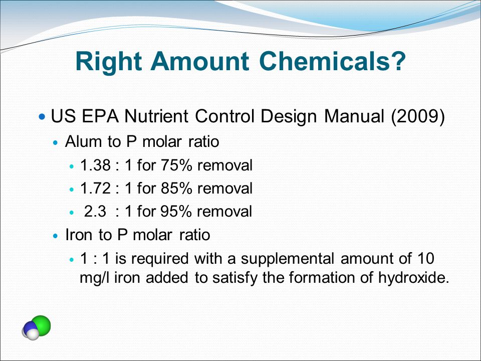 Right Amount Chemicals.
