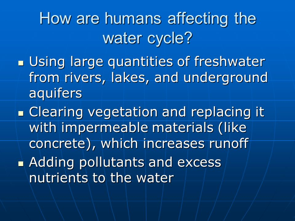 How are humans affecting the nitrogen cycle.
