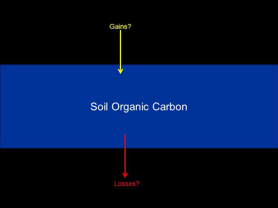 Soil Organic Carbon Gains Losses