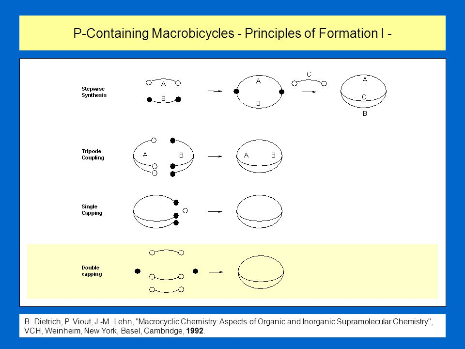 P-Containing Macrobicycles - Principles of Formation I - B. Dietrich, P. Viout, J.-M. Lehn,