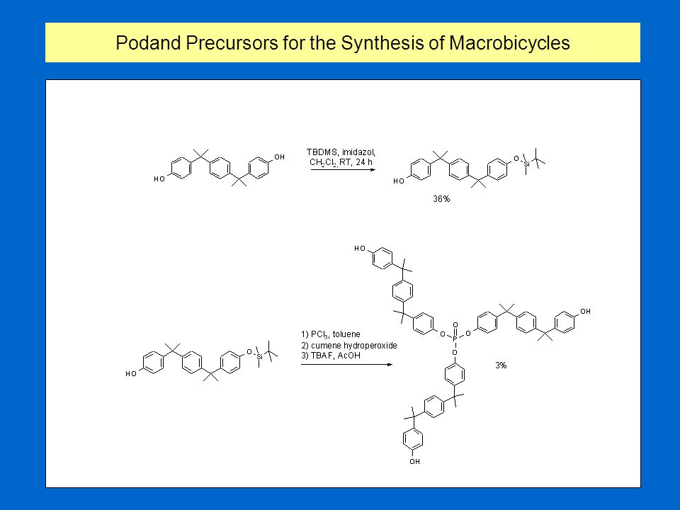 Podand Precursors for the Synthesis of Macrobicycles