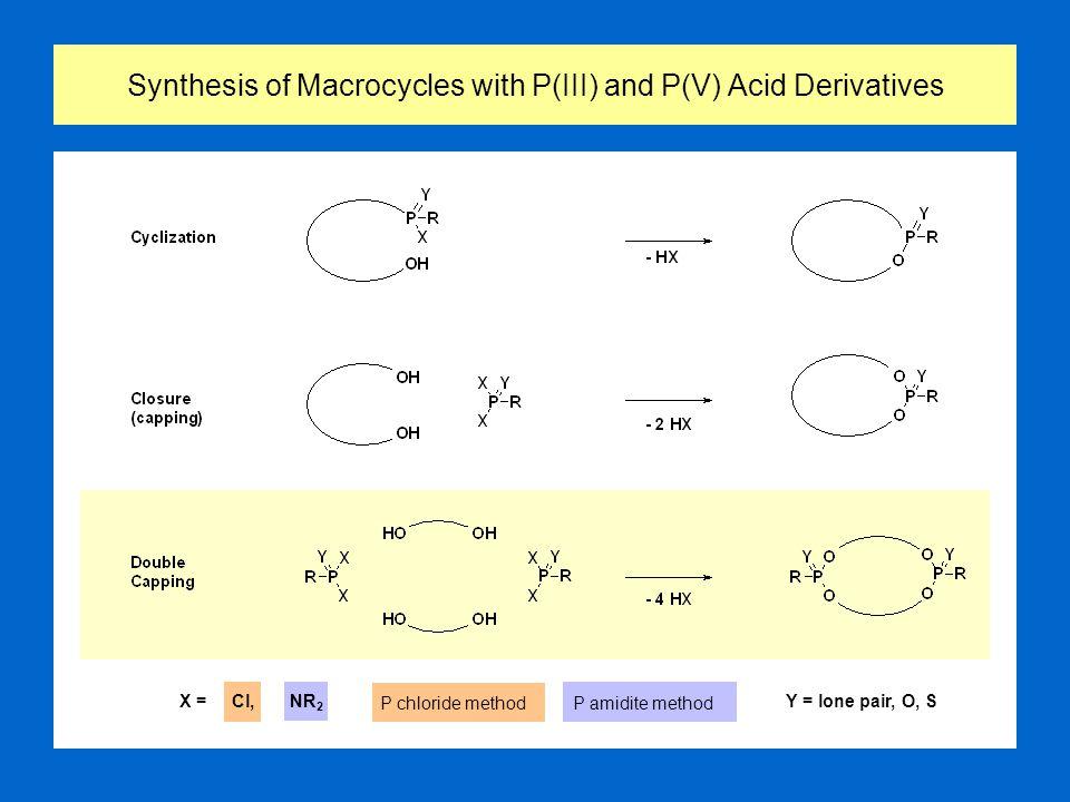 Stereoisomerism of Tetracoordinated P(III)- and P(V)-Macrocycles 2 Phosphorus Centers 4 Phosphorus Centers 3 Phosphorus Centers X = lone pair, O