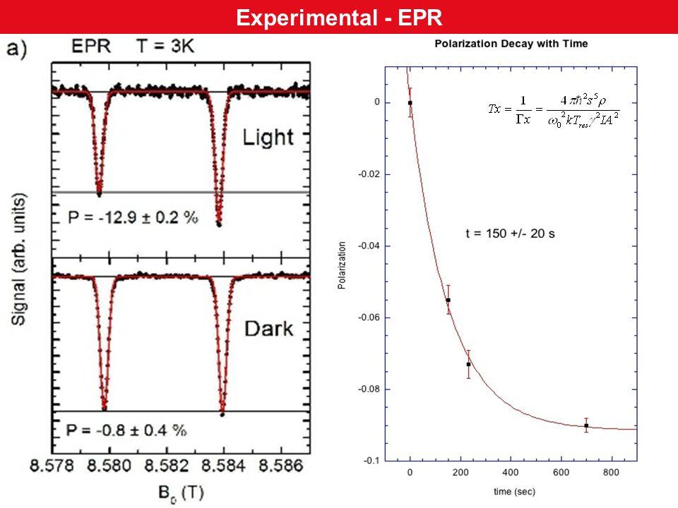 Experimental - EPR