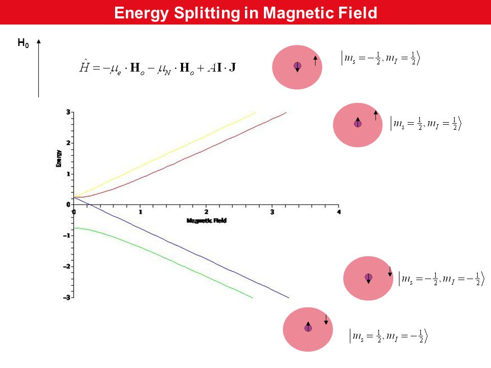 H0H0 Energy Splitting in Magnetic Field