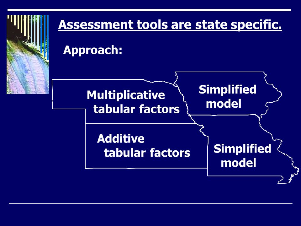 Assessment tools are state specific.