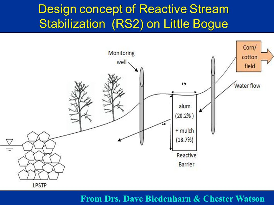 1ft 4ft Design concept of Reactive Stream Stabilization (RS2) on Little Bogue From Drs.