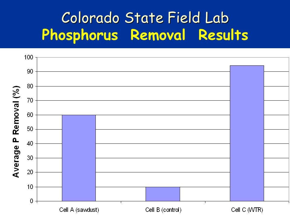 Colorado State Field Lab Phosphorus Removal Results