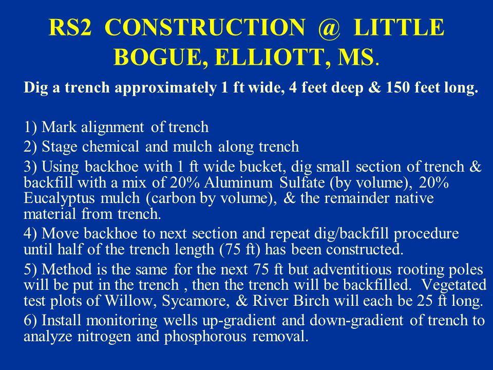 RS2 CONSTRUCTION @ LITTLE BOGUE, ELLIOTT, MS.