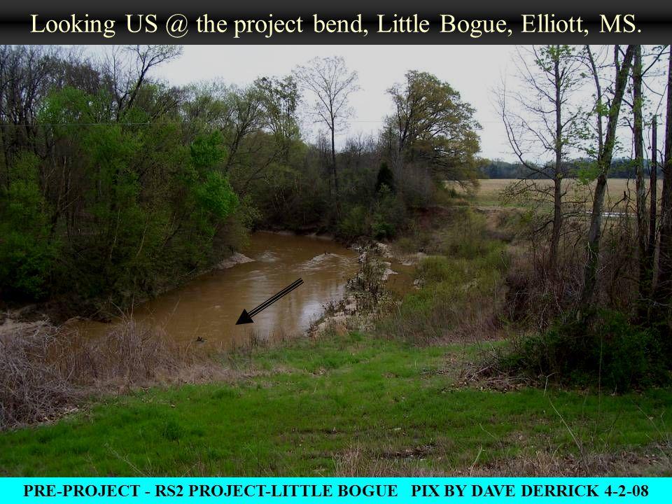 Looking US @ the project bend, Little Bogue, Elliott, MS.