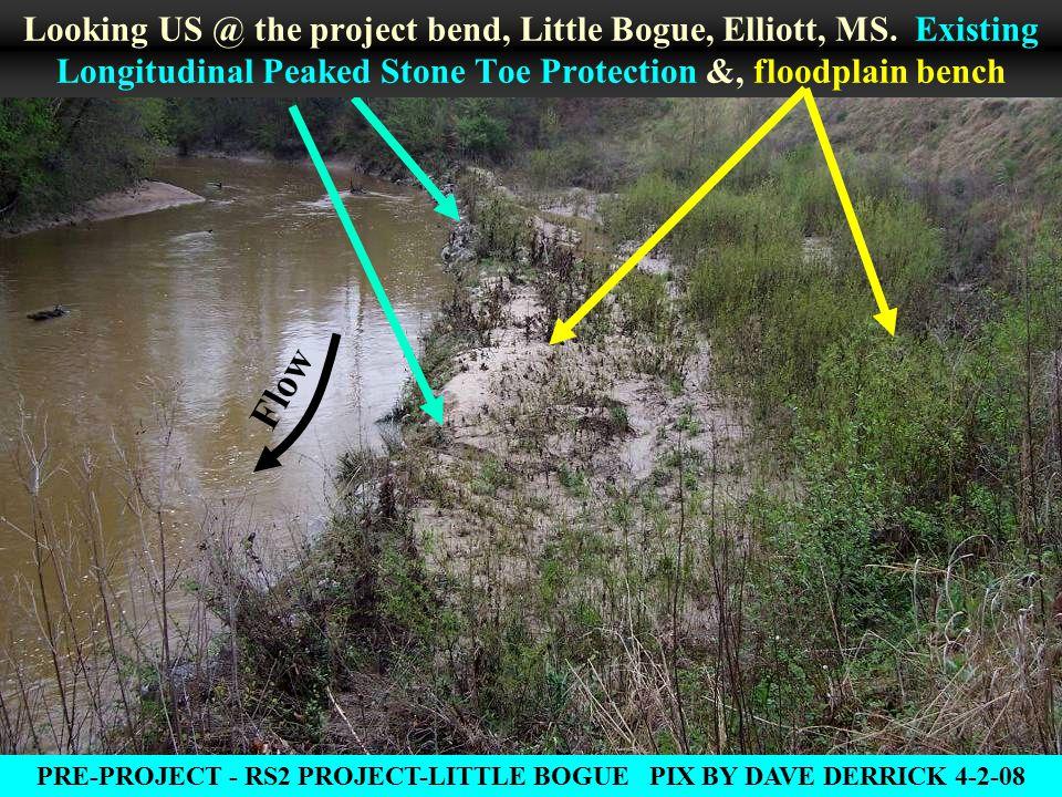 Flow Looking US @ the project bend, Little Bogue, Elliott, MS.