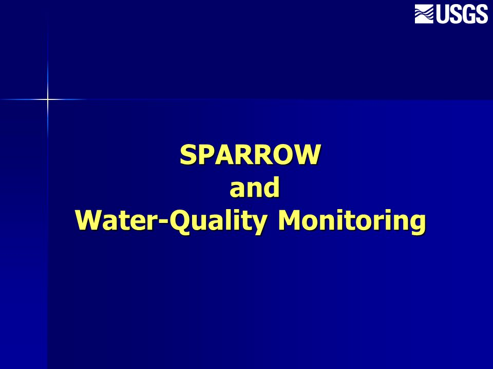 SPARROW and Water-Quality Monitoring