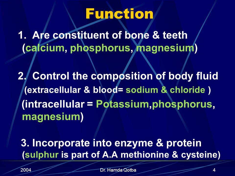2004Dr. Hamda Qotba44 Disadvantage of fiber in diet: Mineral deficiency Flatulence