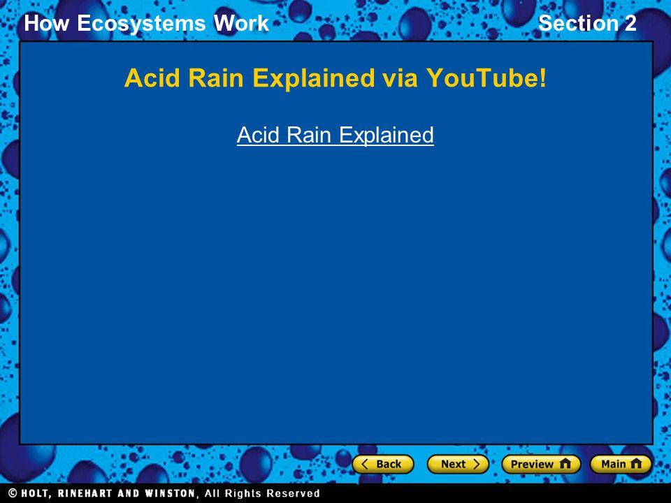 How Ecosystems WorkSection 2 Acid Rain Explained via YouTube! Acid Rain Explained