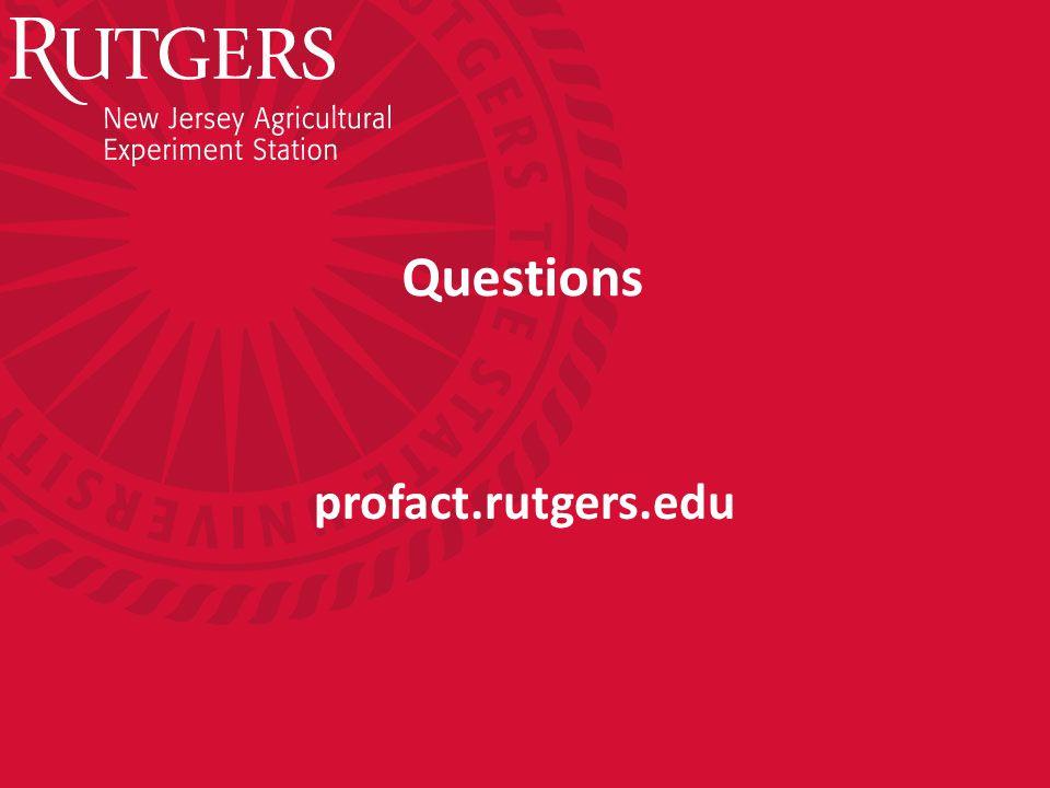 Questions profact.rutgers.edu