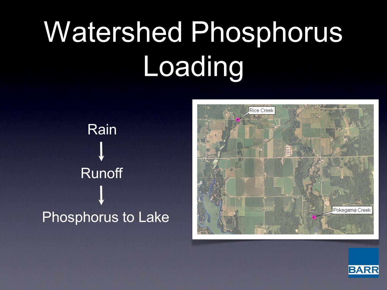 Watershed Phosphorus Loading Rain Runoff Phosphorus to Lake