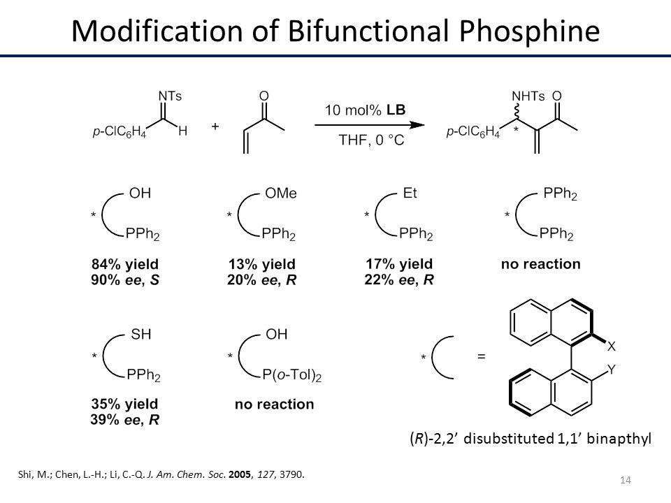 Modification of Bifunctional Phosphine Shi, M.; Chen, L.-H.; Li, C.-Q.
