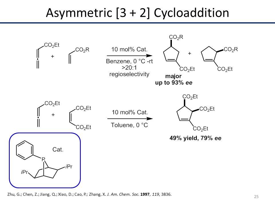 Asymmetric [3 + 2] Cycloaddition Zhu, G.; Chen, Z.; Jiang, Q.; Xiao, D.; Cao, P.; Zhang, X.
