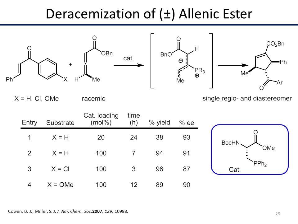 Deracemization of (±) Allenic Ester Cowen, B. J.; Miller, S.