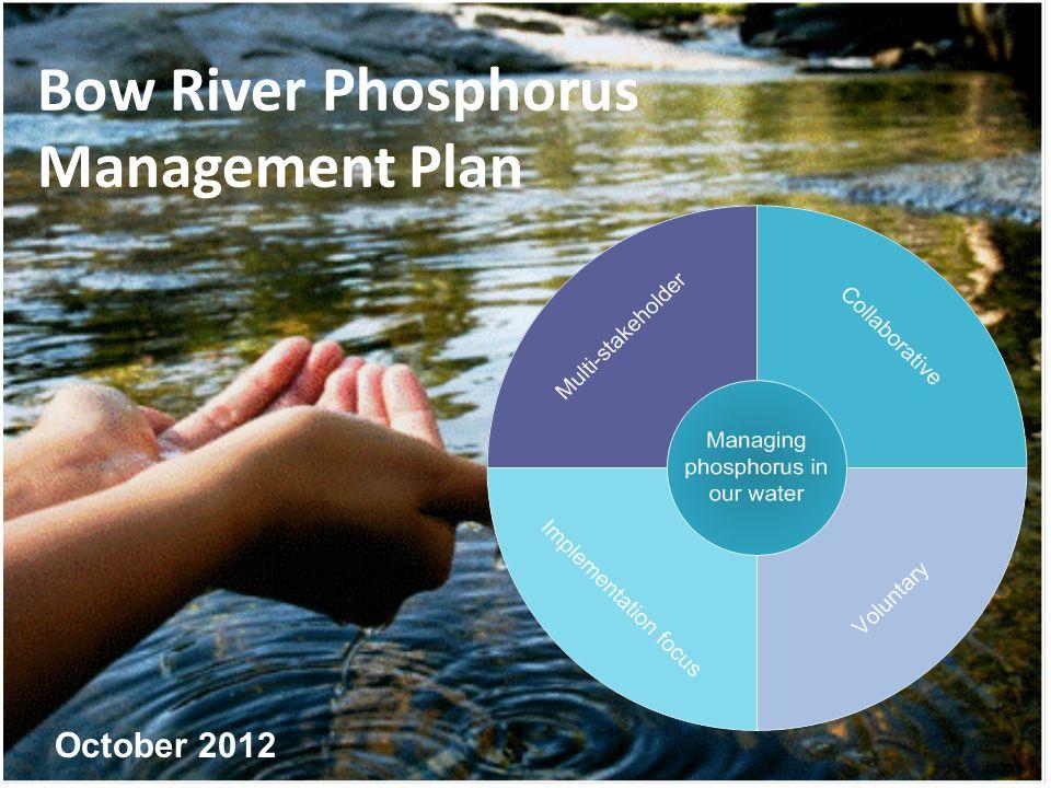 Bow River Phosphorus Management Plan October 2012