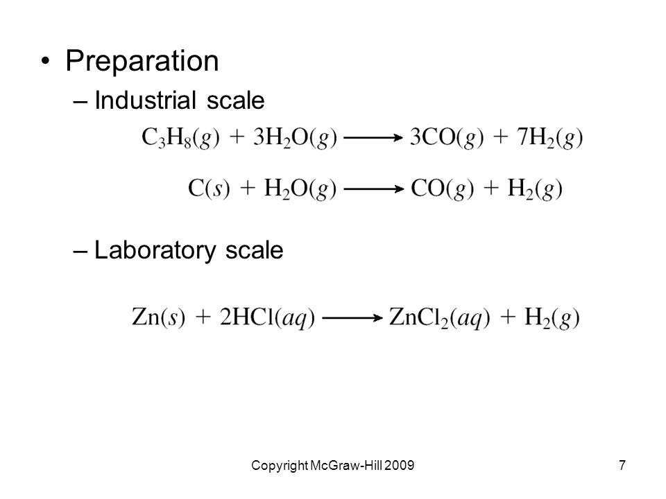 Copyright McGraw-Hill 200948 Sulfuric acid –Diprotic acid –Colorless, viscous liquid (m.p.