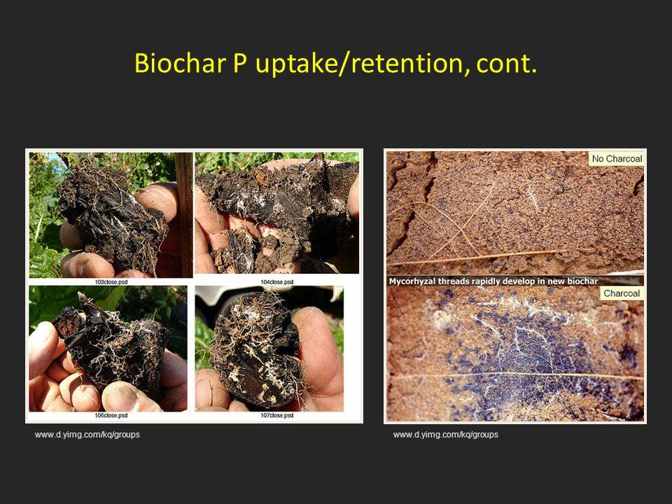 Biochar P uptake/retention, cont. www.d.yimg.com/kq/groups