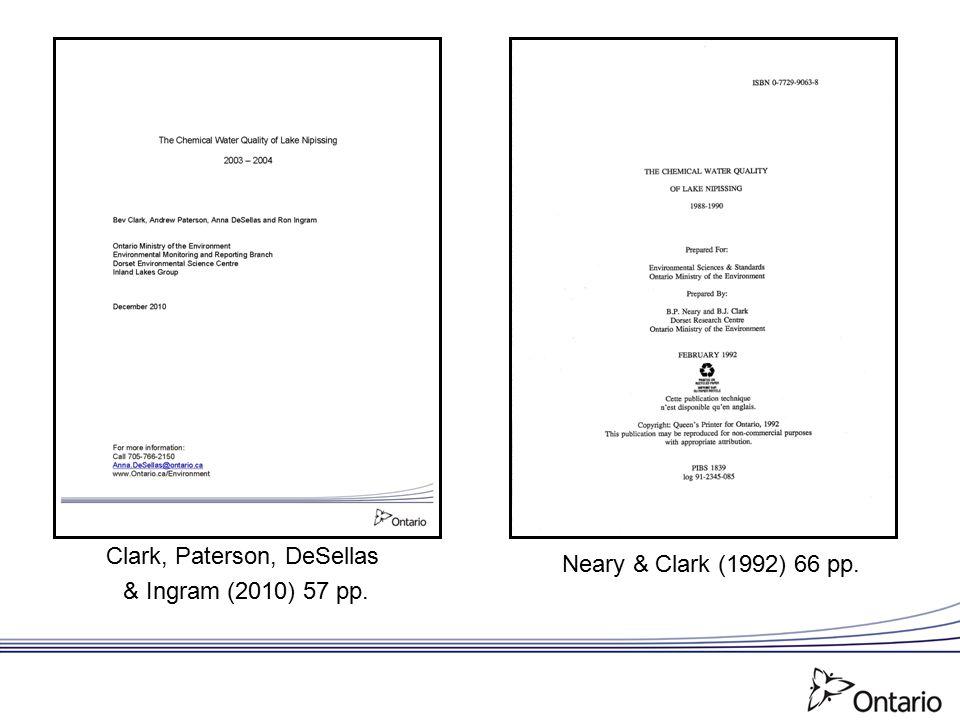 Clark, Paterson, DeSellas & Ingram (2010) 57 pp. Neary & Clark (1992) 66 pp.